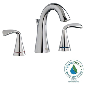 American Standard 7186.811.002 Fluent Two-Handle Widespread Bathroom Faucet w/ Red/Blue Indicators