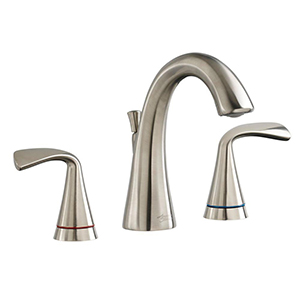 American Standard 7186.811.295 Fluent Two-Handle Widespread Bathroom Faucet w/ Red/Blue Indicators (Brushed Nickel)